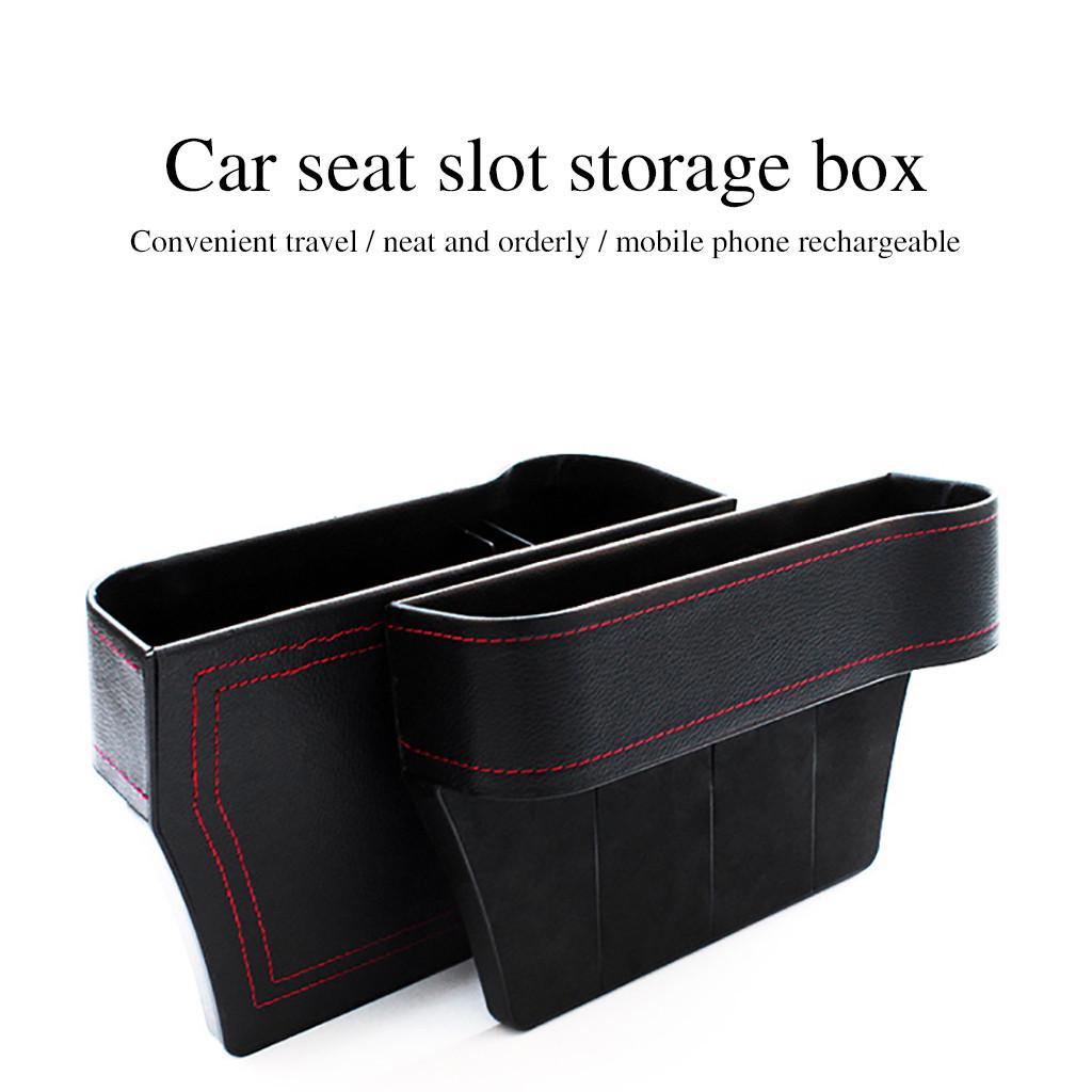 Left /& Right Car Storage Box Car Gap Filler Multifunctional Cup Holder Slot Central Console Additional Side Pockets Box for Cellphones,Keys,Cards,Wallets Black 1 Pcs Car Seat Gap Organizer