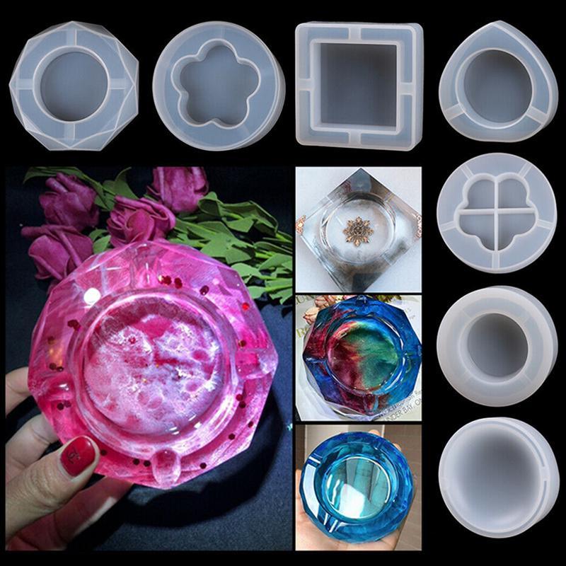 Flower Container Food Grade Silicone Mirror Ashtray Ashtray Silicone Mold