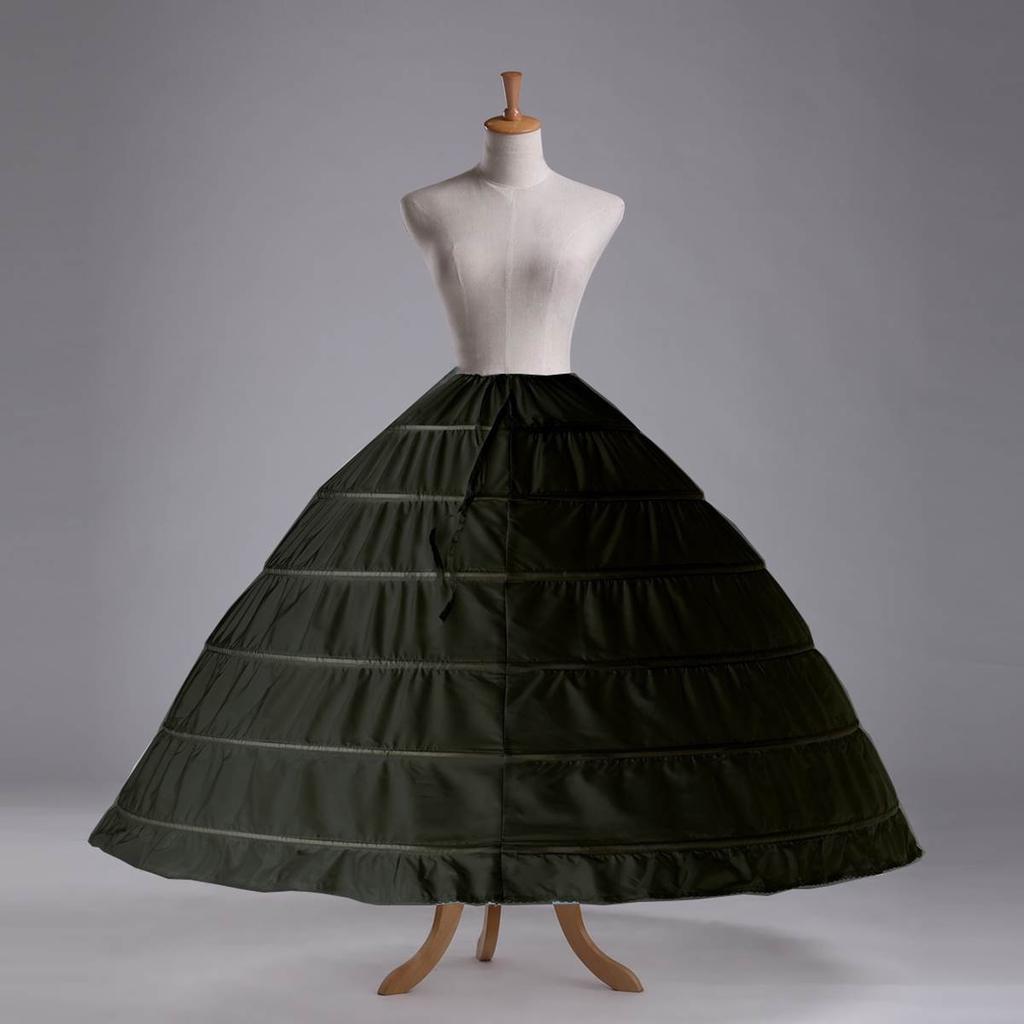 Black 6 HOOP Wedding Dress Bridal Gown Crinoline Petticoat Skirt ...