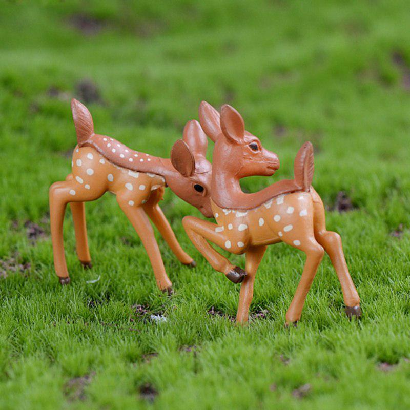 Miniatures Home Decoration 2pcs//Lot Artificial Sika Deer Giraffe Fairy Garden