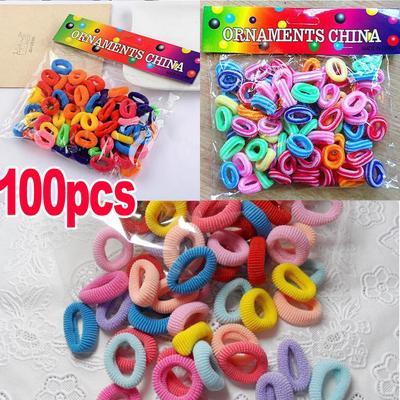 Children Hair Rope Children Girls Scrunchie Ponytail Holder Band Multicolor Hair Tie Elastic