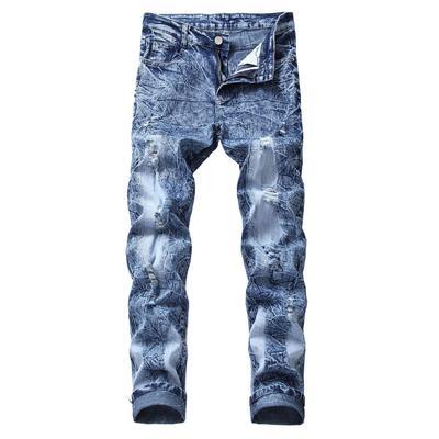 76e37393a7 Otoño e invierno de Europa y Jeans Estados Unidos calle marea marca  elástica recta de los