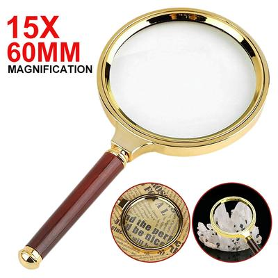 Mayitr Handheld 15X Magnifier Magnifying Glass Loupe Reading Jewelry Aid Big Large 60mm