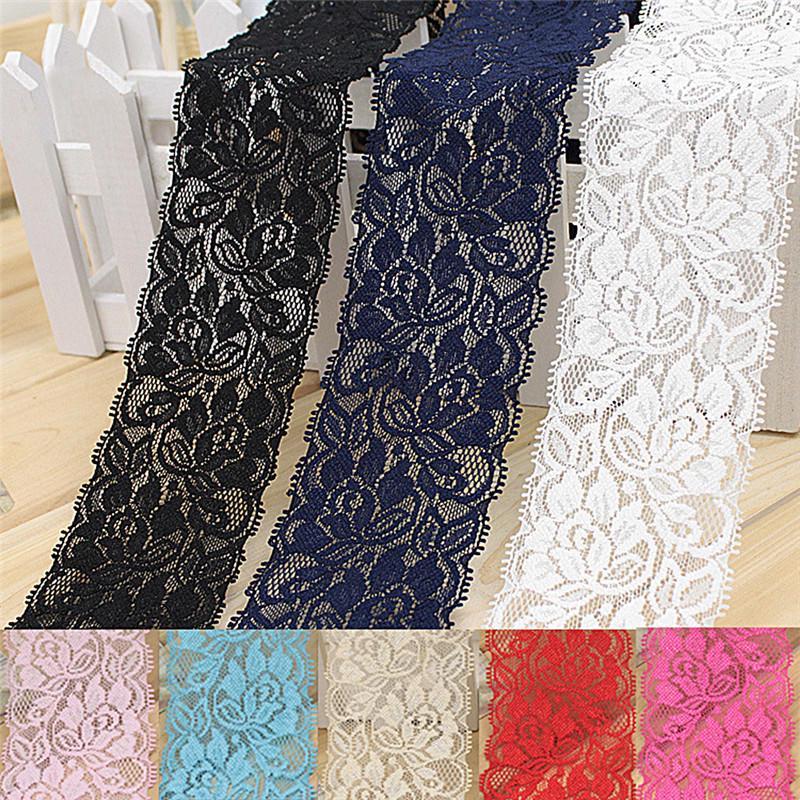 1 м 6,5 см цветок стретч кружевной отделкой швейных платье юбка декор Ремесло DIY ленты фото