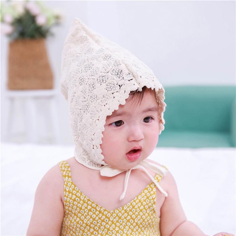 FI NEW Baby Girls Kids Children Bonnet Lace Cotton Beanie Princess Cap Sun Hat
