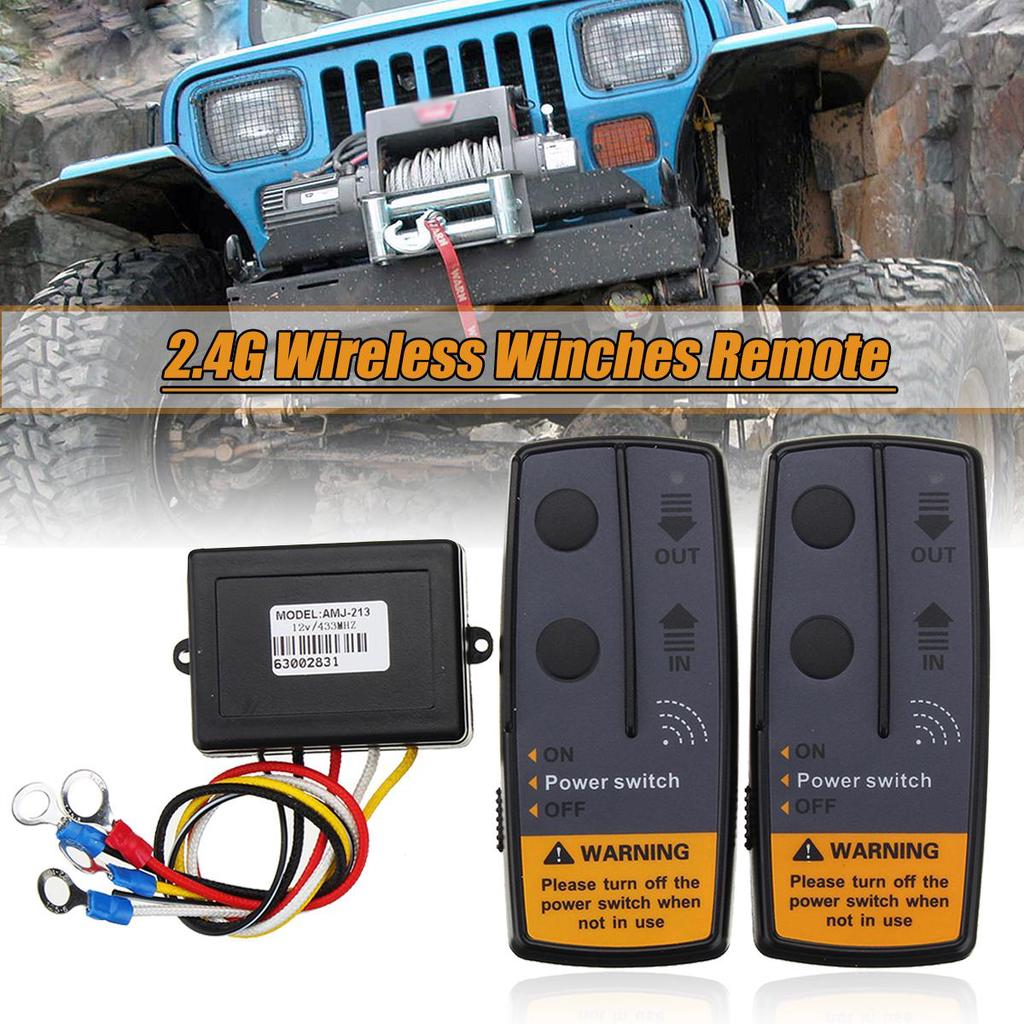 DC 12//24V 7A 434MHz 100FT Recovery Wireless Winch Remote