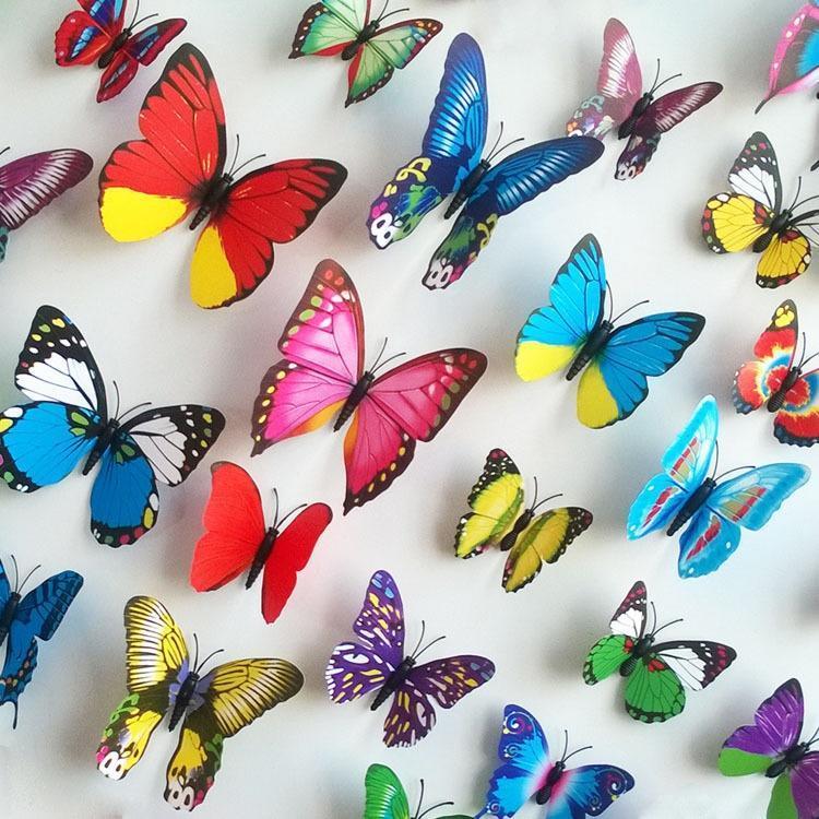 代发 AY1043B 飞舞的蝴蝶 时尚家居装饰可移除PVC墙贴 随心贴