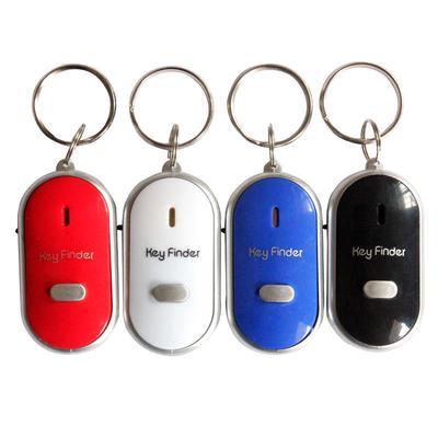LED Key Finder Locator Find Lost Keys Chain Keychain Whistle Sound Control Key Holder Ring Women Men