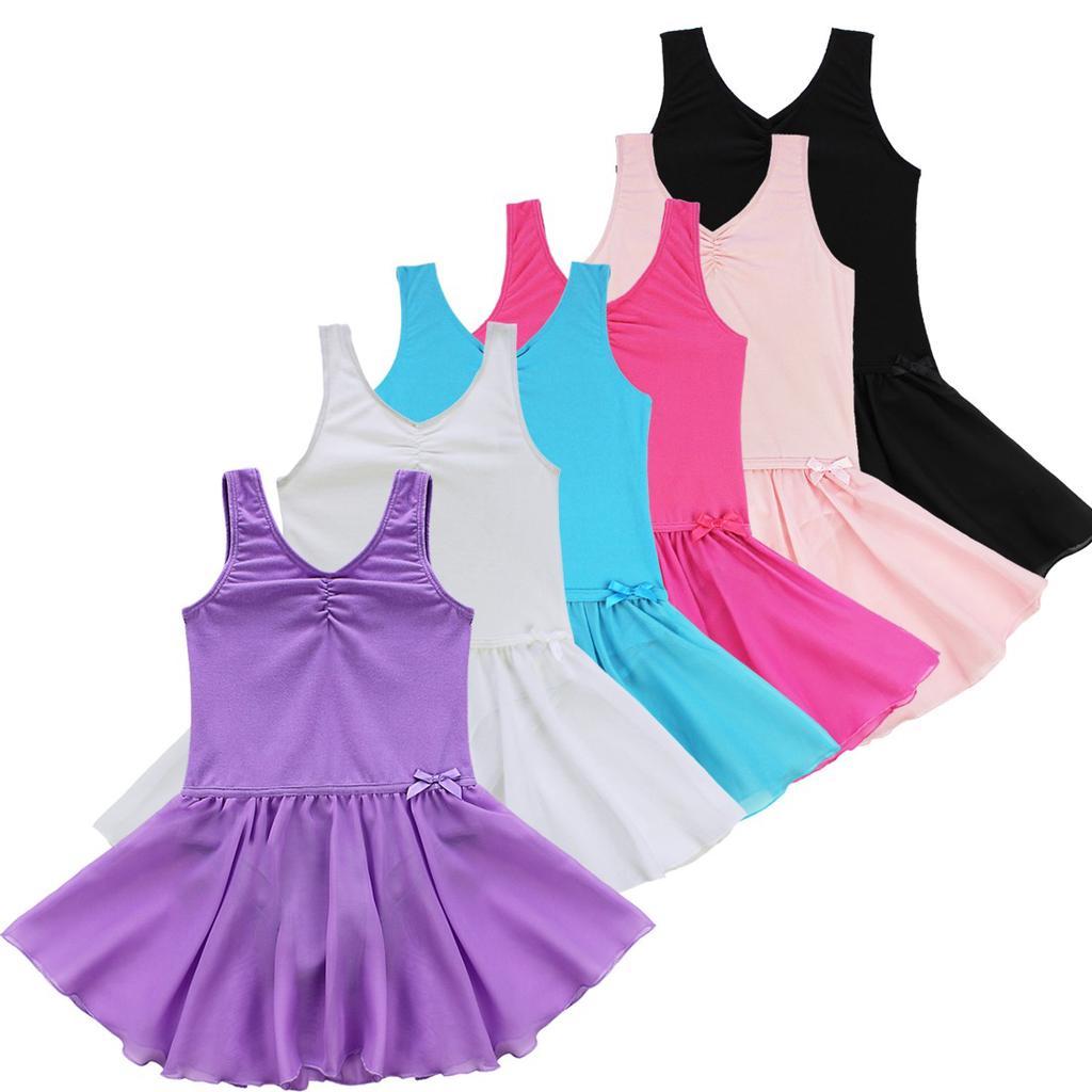CHICTRY Kids Girls Basics Mesh Splice Ballet Dance Gymnastics Leotard with Strap Cross Back
