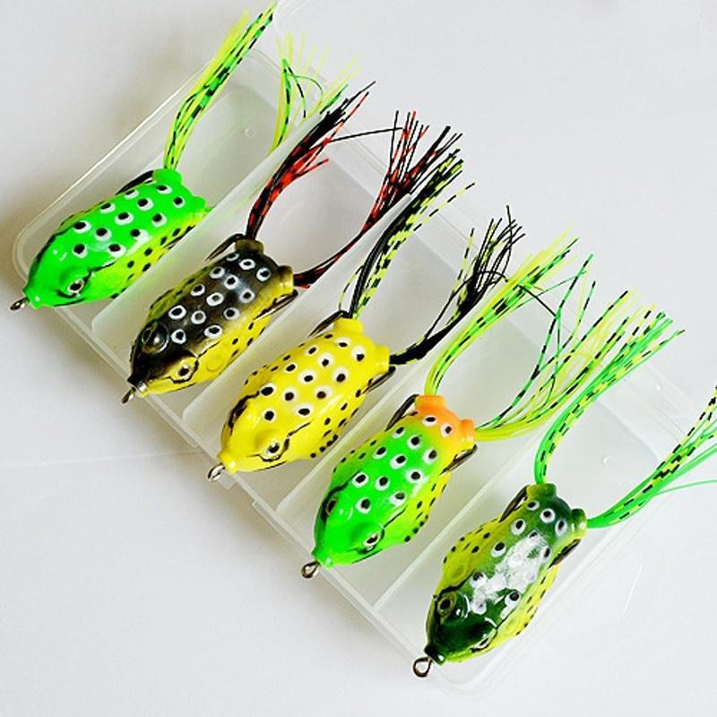 Лягушка приманки / лягушка приманки большие мягкие бионический Рэй лягушка крэнкбейта бас решать крюк фото