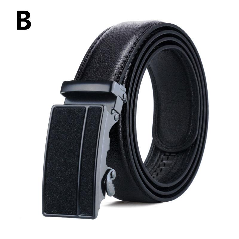 Genuine Leather Belt For Waist Of All Sizes Automatic Buckle Super Black Color