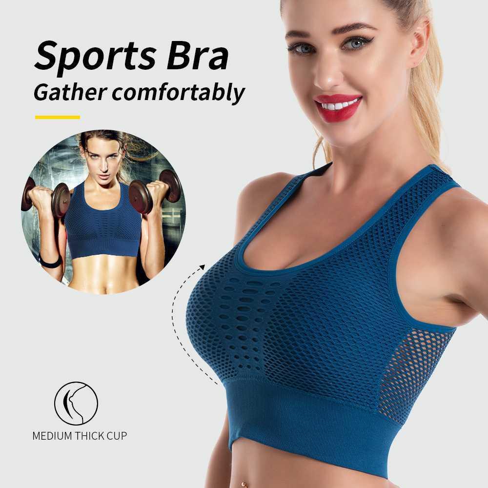 HOT Ladies Seamless Sports Bra Wireless Crop Tops Women Gym Yoga Activewear UK!