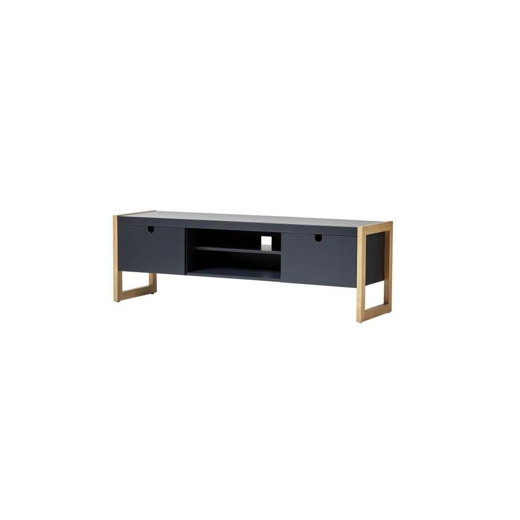 Kare Tv Cabinet With 2 Doors Oak And Anthracite Decor L 140 X D 38 X H 45 Cm Buy At A Low Prices On Joom E Commerce Platform