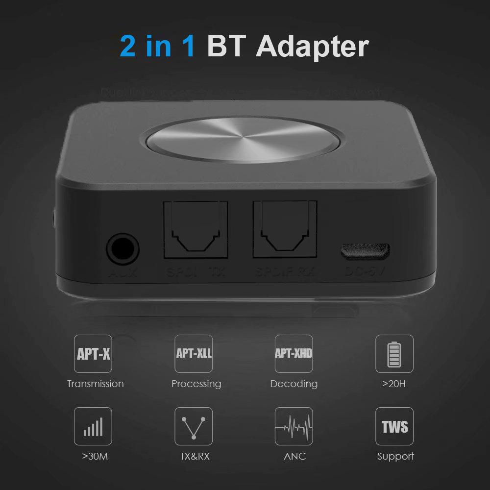 Aptx 2 In 1 Bluetooth 5 0 Wireless Transmitter Receiver Csr8675 Wireless Audio Adapter 3 5mm Spdif Buy At A Low Prices On Joom E Commerce Platform