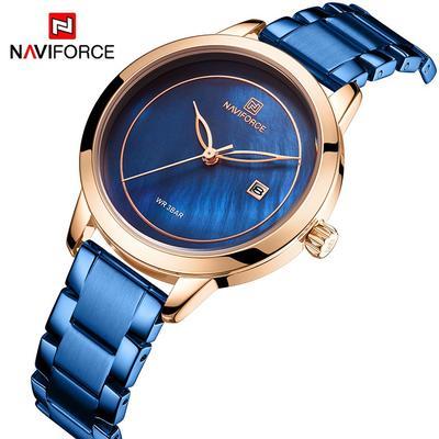 5008 Blue Quartz Woman Watches Luxury Wristwatches Women's Fashion Dial Lady Gift Clock
