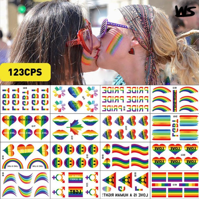 20 pc lot Rainbow gay pride flag Sticker Vinyl LGBTQIA tattoo festival parade