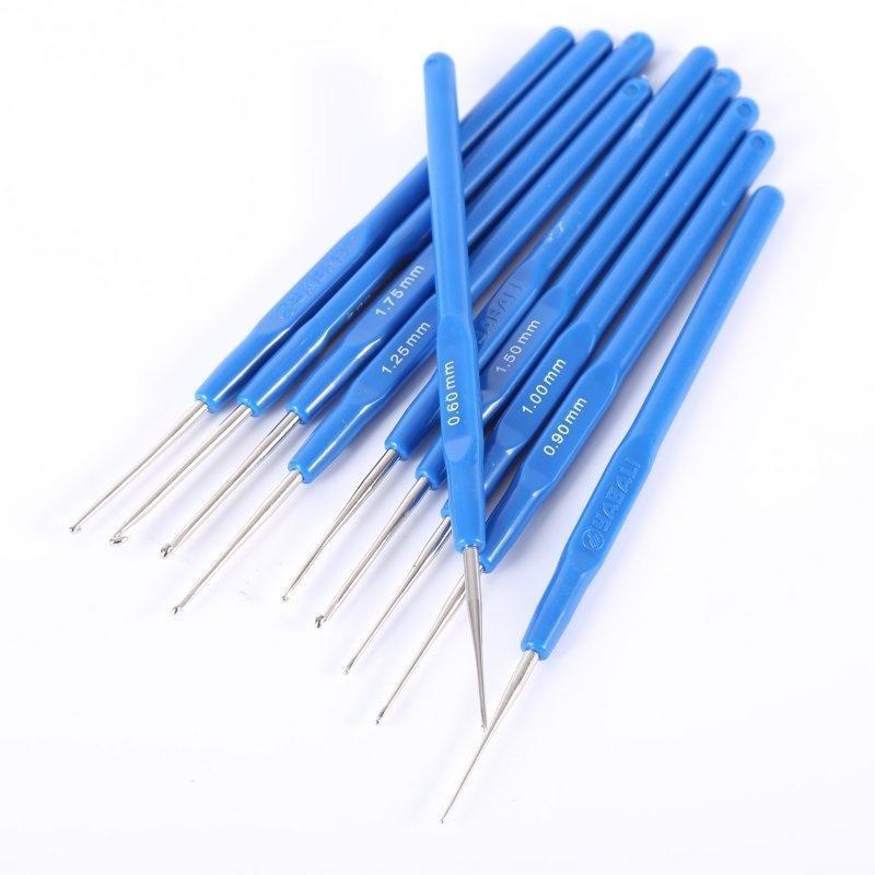 0,6-2,0 mm, die blauen Kunststoffgriff Häkelnadel stricken Nadel ...