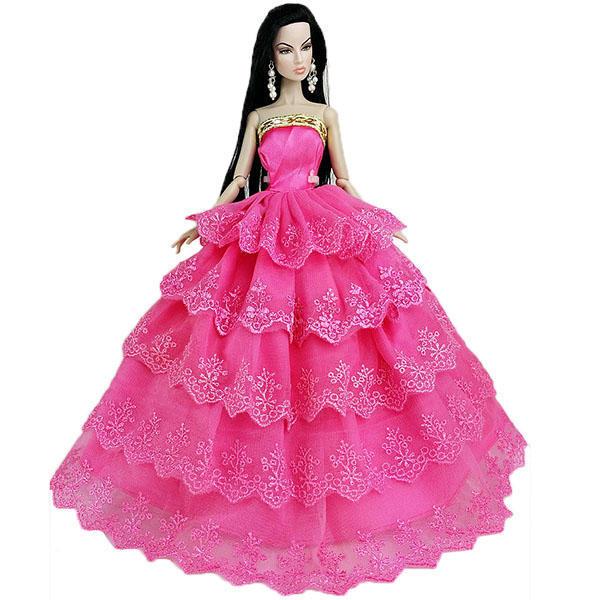 Vestido de boda a mano rosa roja vestidos de fiesta para regalo de ...