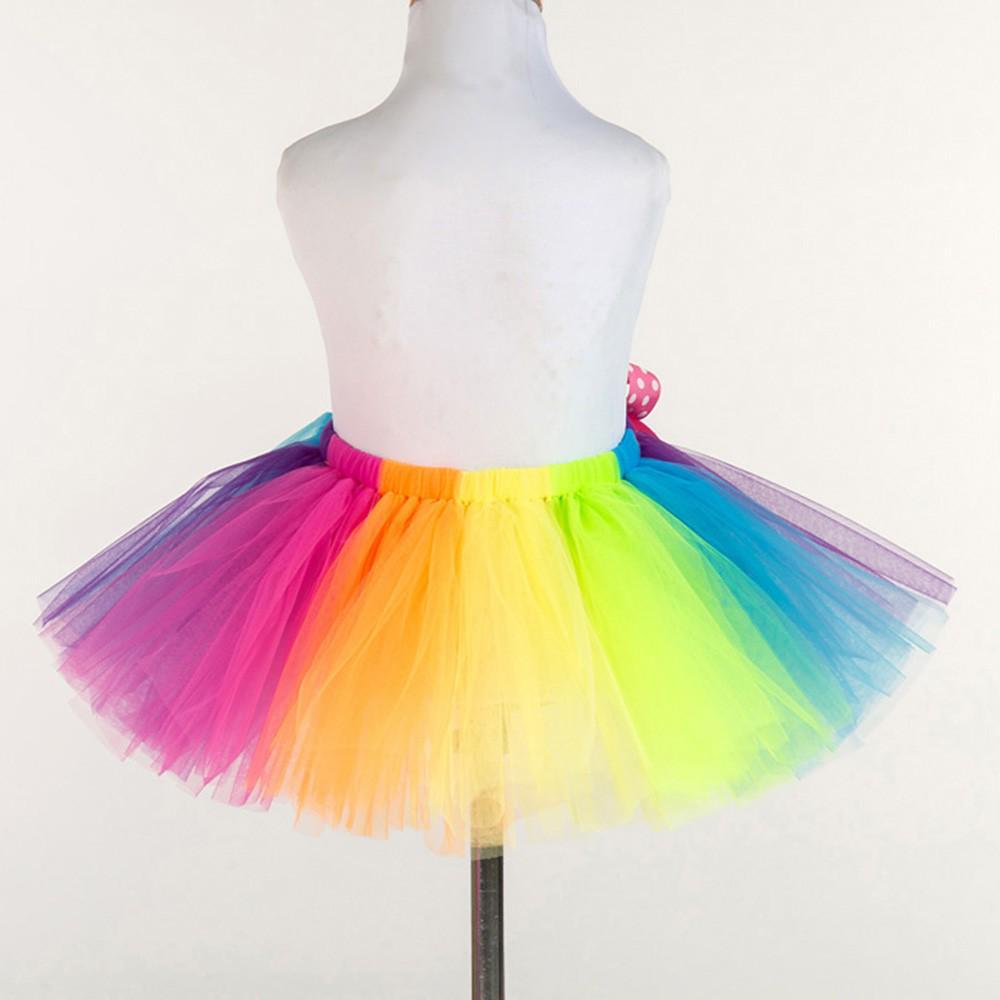 Details about  /Girls Rainbow Tutu Skirt Tulle Fluffy Pettiskirts Ballet Dance Dress Costume New