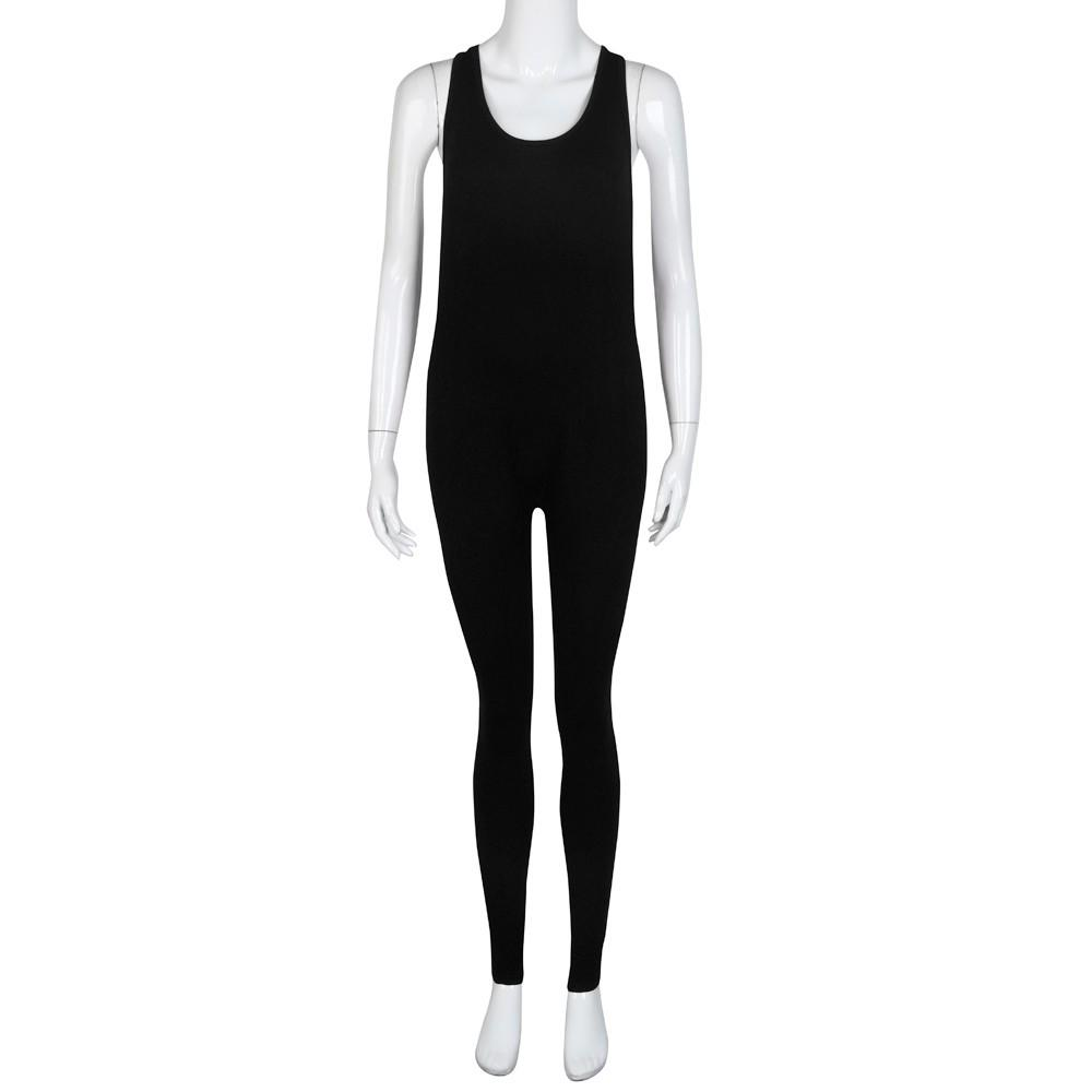 Women Deep V Neck Sleeveless Slim Bodycon Romper Jumpsuit Bodysuit Long Pant LG