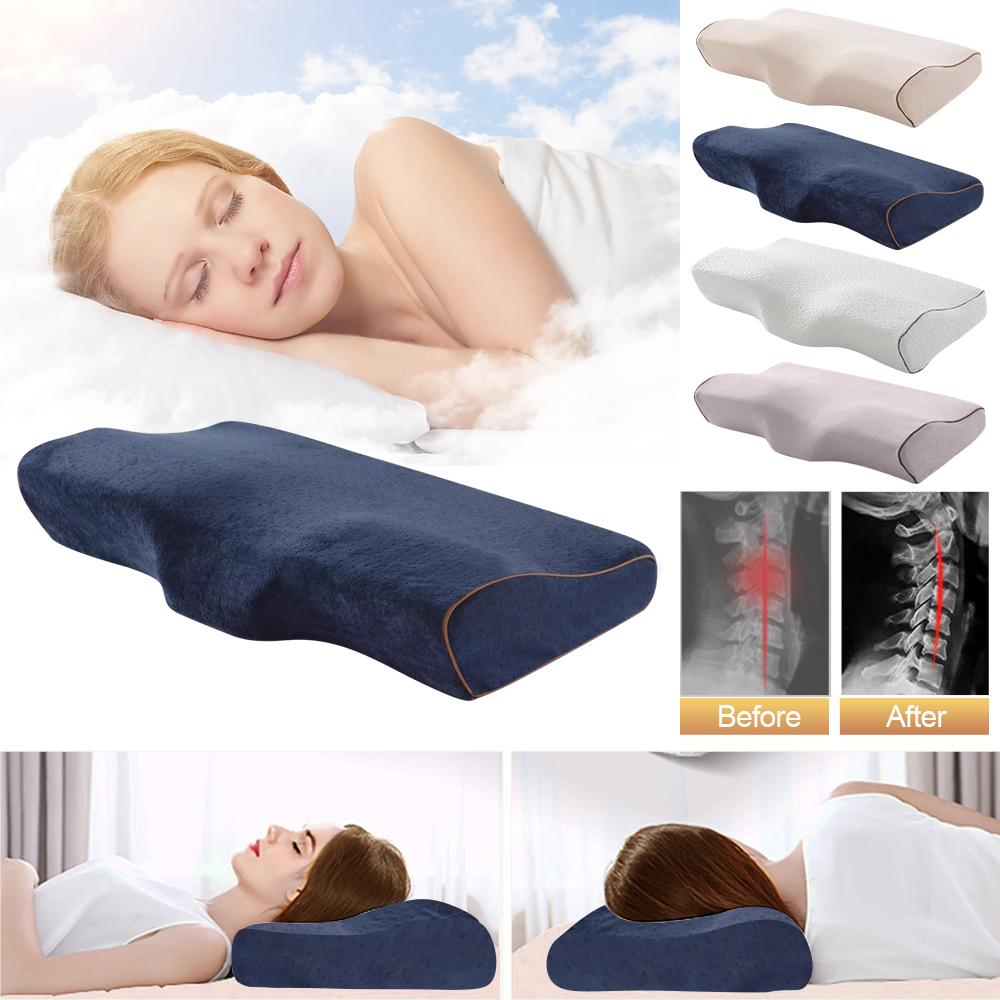 Soft Slowly Rebound Memory Foam Space Pillow Cases Neck Cervical Healthcare Home