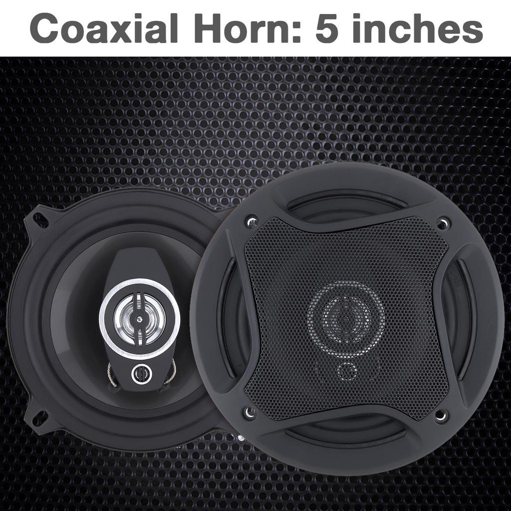 "2Pcs 4/"" 100W 3 Way Car Loud Speaker Coaxial Horn Stereo Audio Music Loudspeaker"