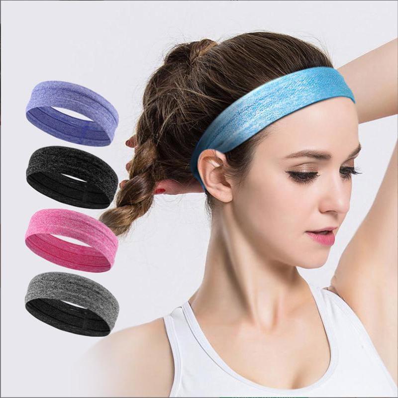 Elastic Absorbent Sweat Bands Silicone Anti-slip Sweatband Yoga HairBand