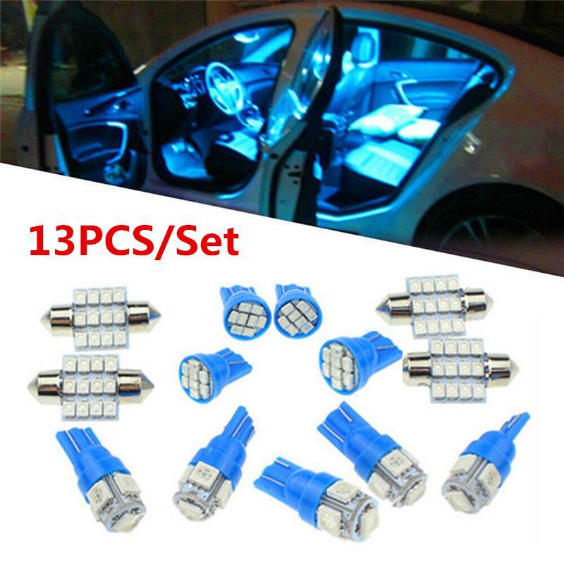 13x DC 12V Car White LED Lights Set for Stock Interior Dome License Plate Lamp