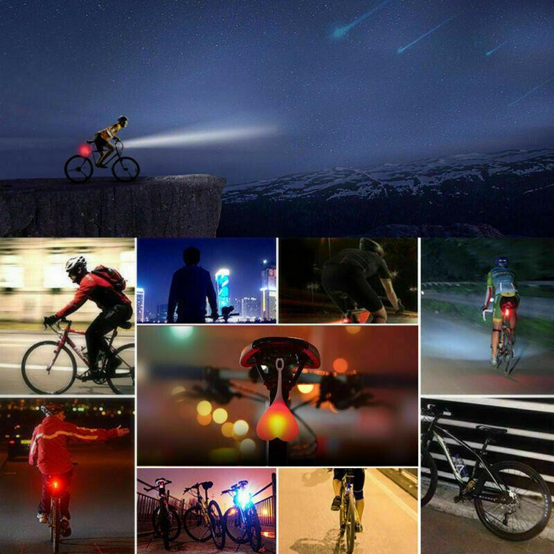Bicycle LED Ball Waterproof Safety Light Tail Bike Night Riding Heart Light