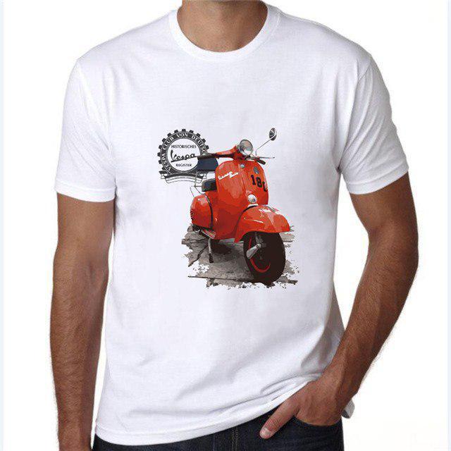 Vespa Long Sleeve T-Shirt Top Tees