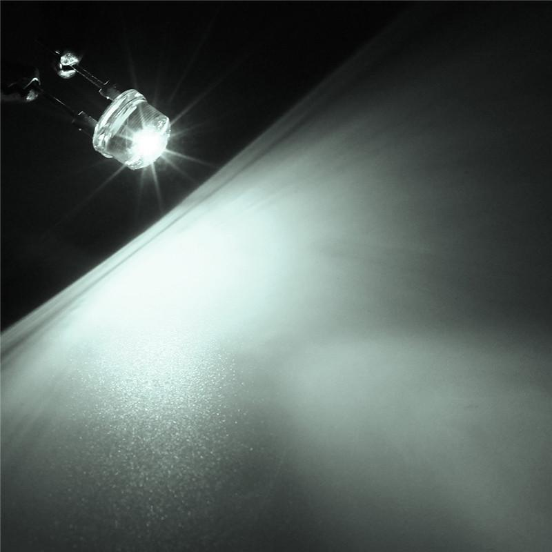 20pcs 8mm white Ultra Bright LED light Bulb Lamp Light 8MM Round White led New