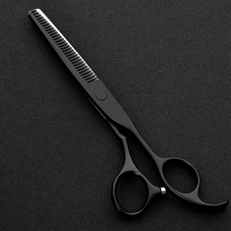 6 Inch Black Japan 440c Stainless Steel Professional Haircut Scissors Barber Salon Thinning Scissors Buy From 11 On Joom E Commerce Platform