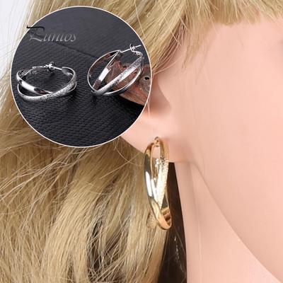 Femme élégante Vintage Géométrique Rond Strass Boucles D/'oreilles Goutte//Dangle Ear Hoop
