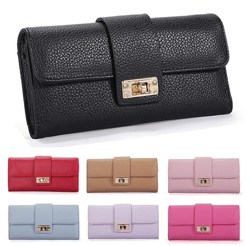 新款韩版女士钱包长款女式皮夹钱夹小清长款新手拿包