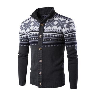 Ethnic Style Fashion Winter Men's Casual Knit Cardigan