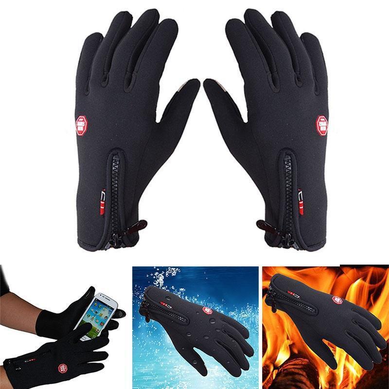 Зимние перчатки теплые ветрозащитные перчатки водонепроницаемые перчатки сенсорным экраном перчатки спортивные перчатки фото