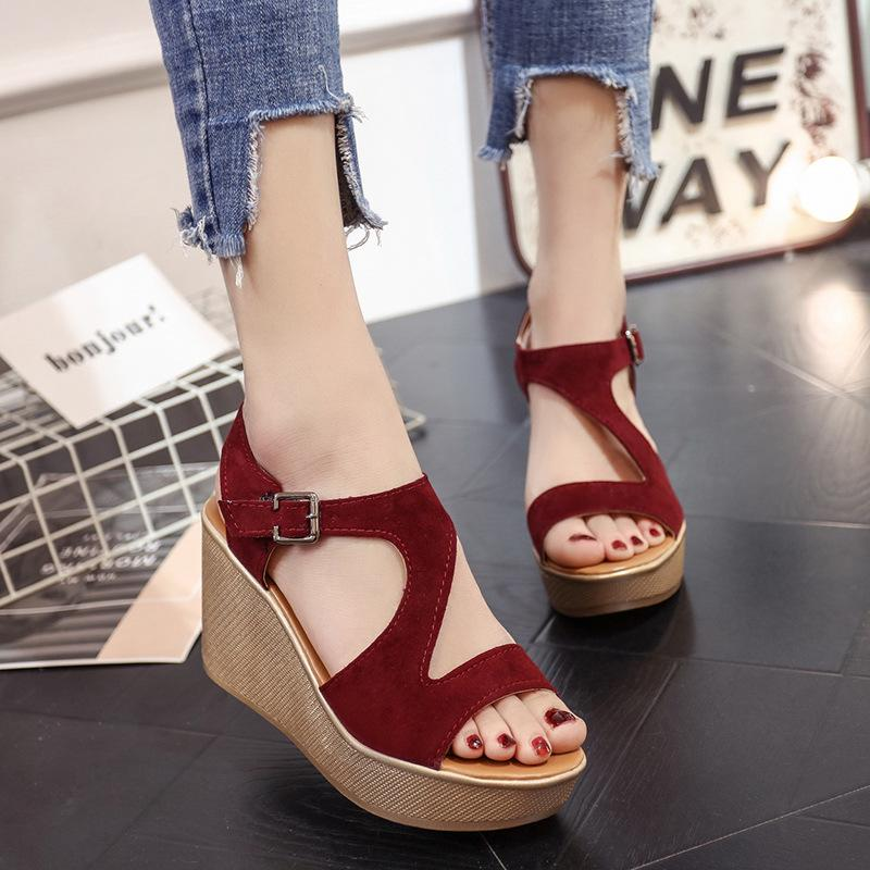 73c9c57d3 Women Shoes Wedge Sandals Fish Mouth Open Toe High Heels-buy at a low  prices on Joom e-commerce platform