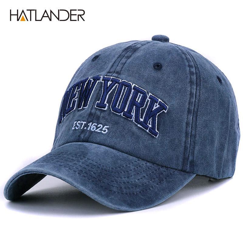 HATLANDER  Arena lavada sombrero del casquillo de béisbol 100% algodón para  mujeres bordado vintage hombres YORK papá - comprar a precios bajos en la  ... 7f78e4d028f