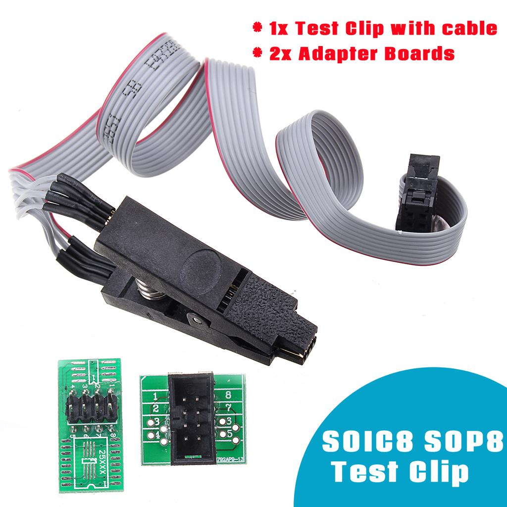 2 Adapters SOP8 SOIC8 Test Clip For EEPROM 24Cx  93//25  in-Circuit Programming