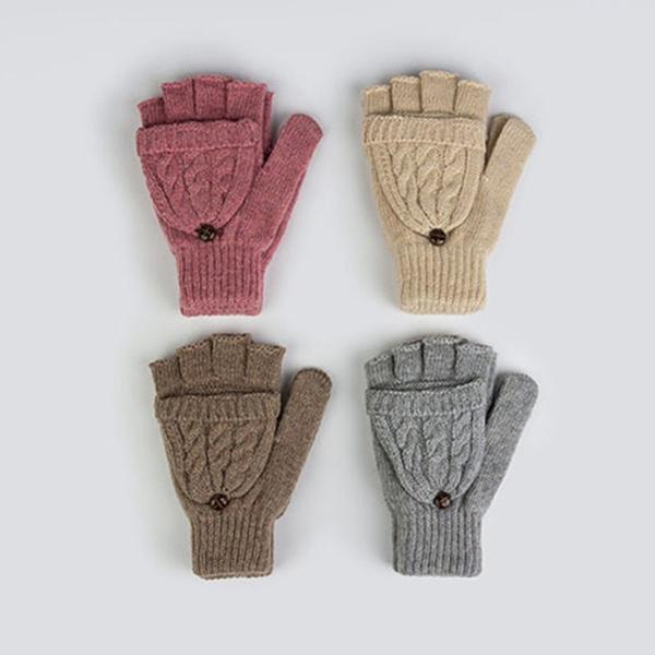 Caliente dedo medio guantes del lana guantes las mujeres la moda ...