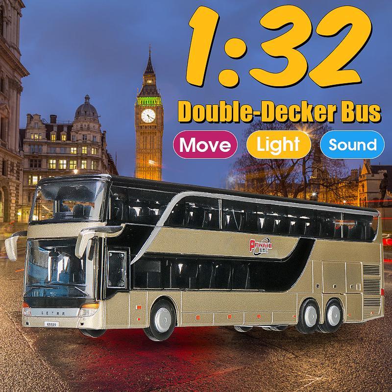 Double-Decker Bus Model Toy Vehicle Car Kids Xmas Birthday Gift W// Sound /& Light