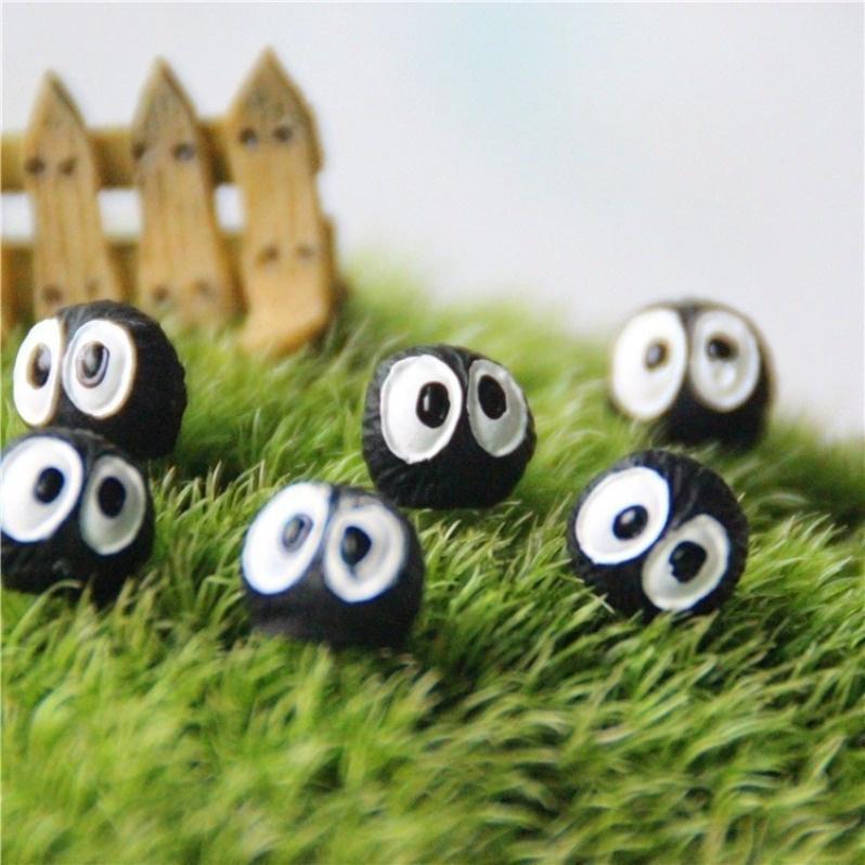 Moss Micro Landscape Decor Miyazaki Briquettes Single Black Elves Ornaments DIY
