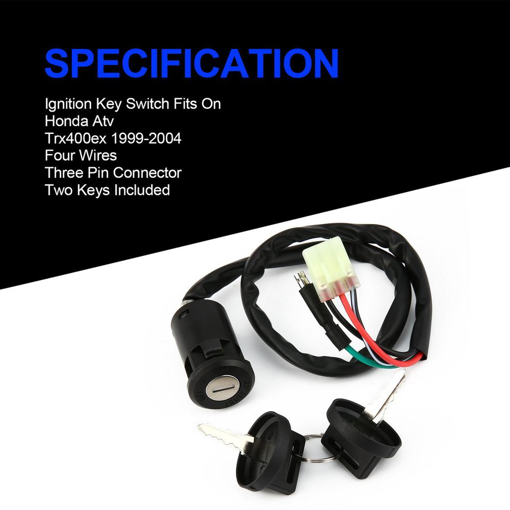 Ignition Key Switch For Honda TRX400EX TRX 400EX 1999-2004 2000 2001 2002 2003