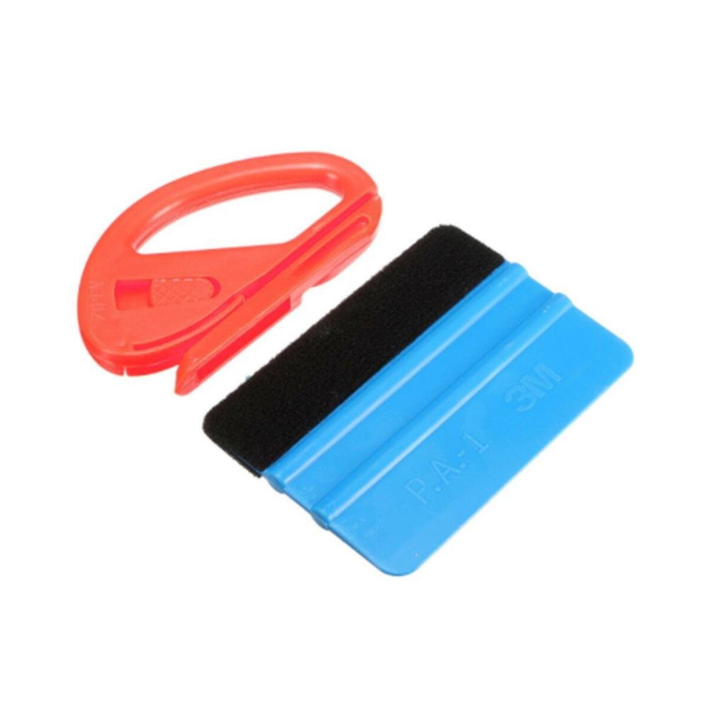 7IN1 Vinyl Film Wrapping Tool Kits Wool Squeegee Snitty Cutter Decals Sticker