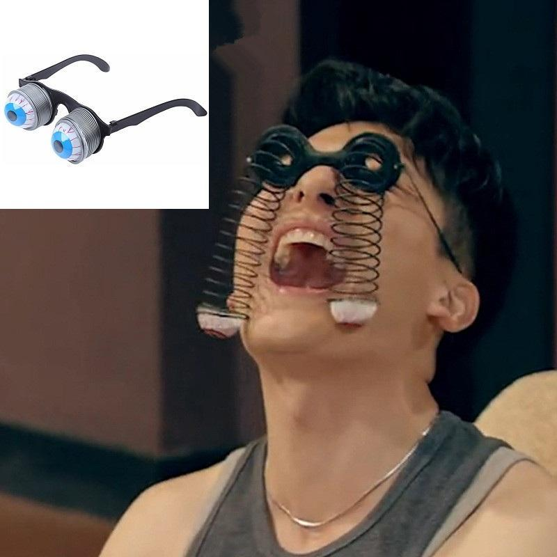 1xNovelty Pop-Out Spring Googly Eye Fancy Dress Joke Glasses Fun Prank Accessory