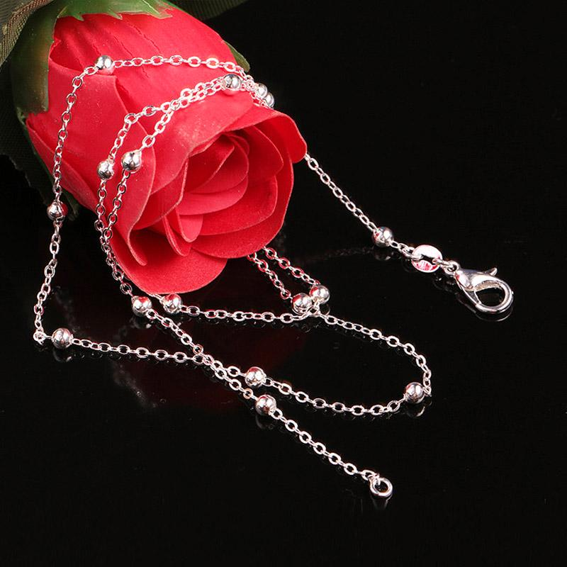 Женщины мода цепи ожерелье кулон бисером цепи 8 дюймового для выбрать подарок ювелирных изделий для девочки фото
