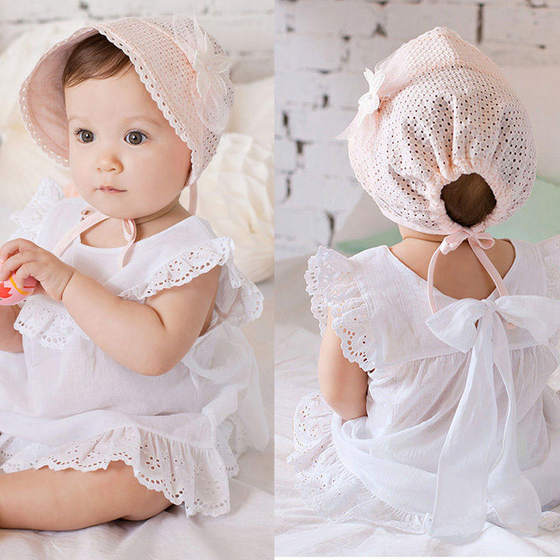 f0b8b72a17d Newborn Infant Beach Bucket Hat Baby Girl Boy Sun Summer Cap Lace ...