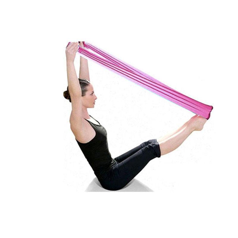 1500mm Yoga Pilates Rubber Stretch Resistance Exercise Fitness Band Elastic Belt
