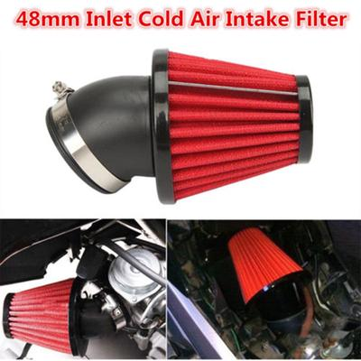 """2.5/"""" Inlet Short Ram Cold Air Intake Dry Filter Cone Universal BLACK For Buick 4"""