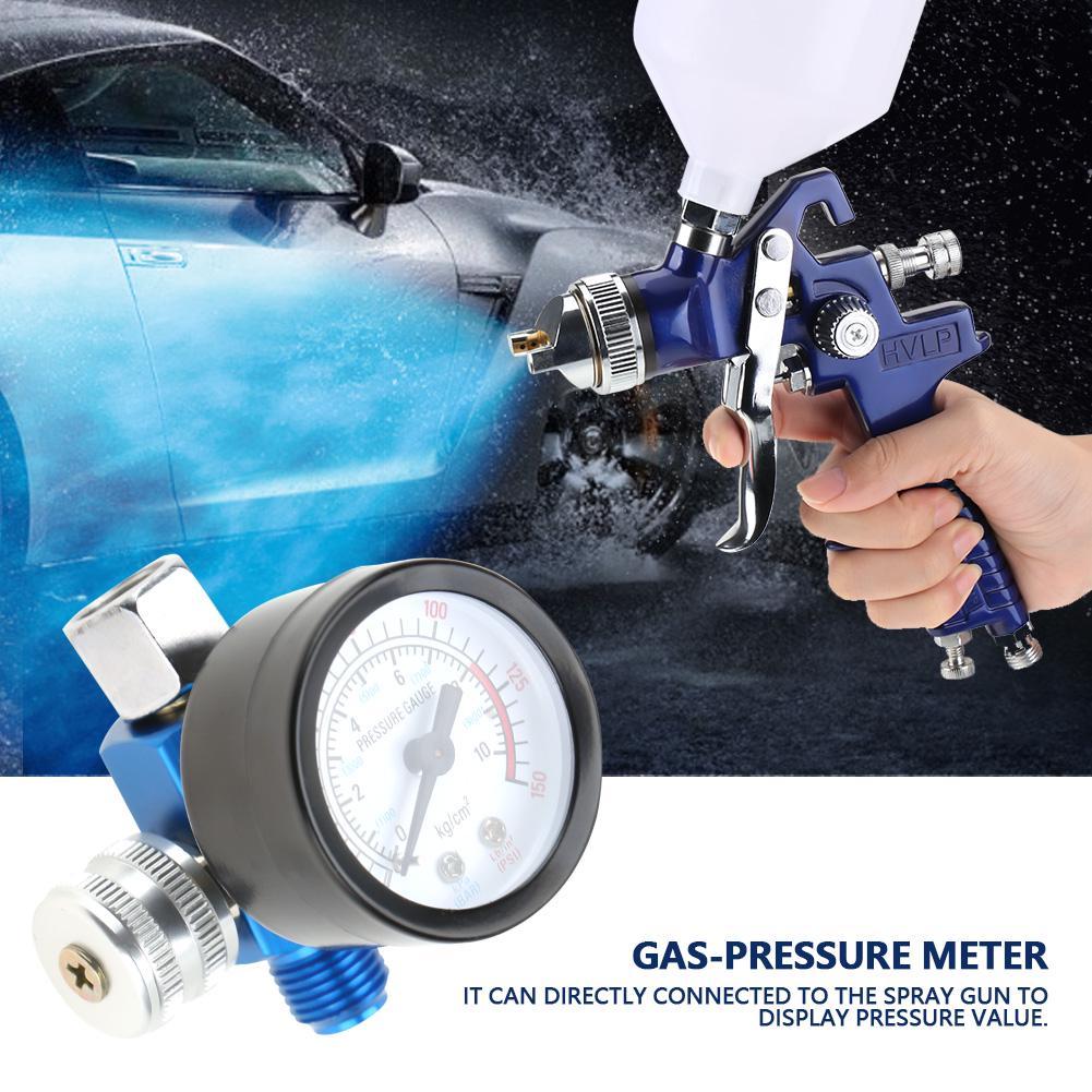 "2 PACK 1//4/"" In Line Air Regulator w// Pressure Gauge HVLP Paint Gun Tool Control"